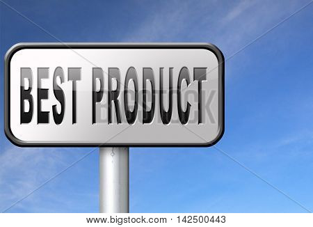 best product billboard road sign top quality guaranteed premium choice 3D illustration