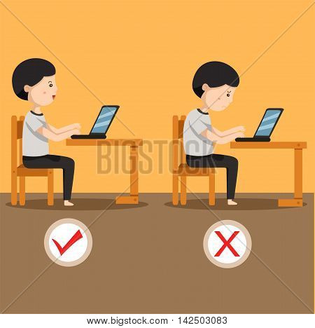 Illustrator of man sitting position two for individuals