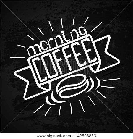 offee packaging design. Designs in coffee. Lettering hand drawing fashion illustration of the theme of coffee. Locked coffee mug store design. Isolated vector illustrationcoffee bag design
