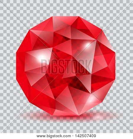 Red Translucent Crystal
