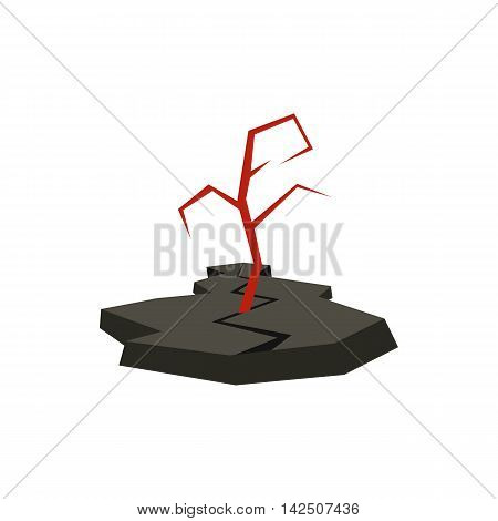 Earthquake icon in flat style isolated on white background. Danger symbol