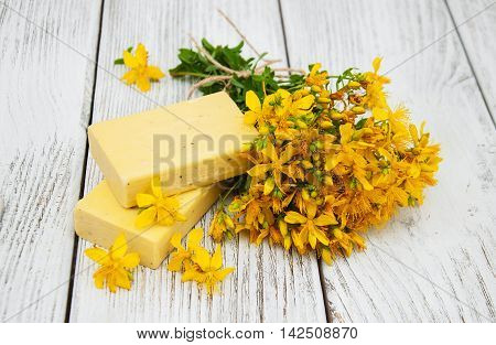 St. John's Wort Flowers And Soap