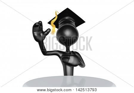 Graduate Character 3D Illustration