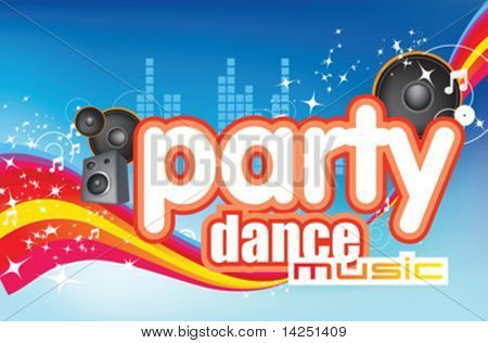 dance party music modern fun flyer design