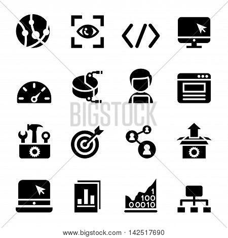 SEO icons set Vector illustration Graphic design