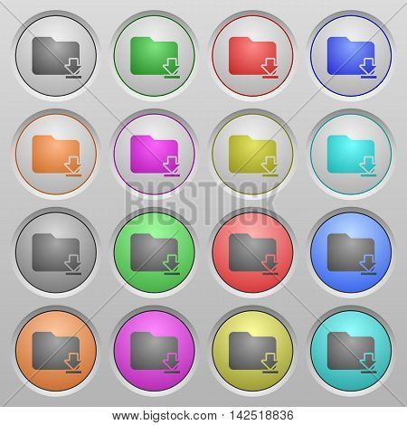 Set of Download folder plastic sunk spherical buttons.