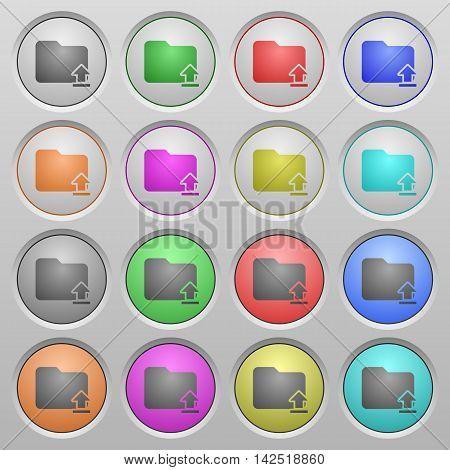 Set of Upload folder plastic sunk spherical buttons.