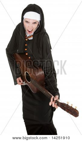 Nun With Guitar