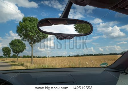 Rearview mirror inside the car, Rearview mirror in the Cabriolet