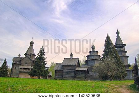 Old Russian wooden historical houses