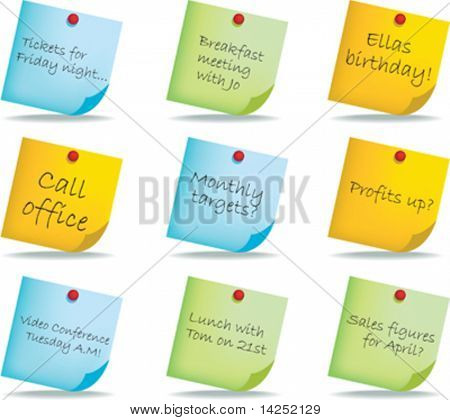 post it notes with different handwritten messages