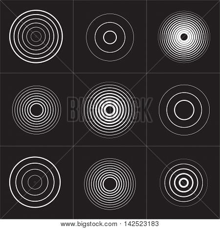 Collection of sound vector symbol Isolated. Vector illustration.