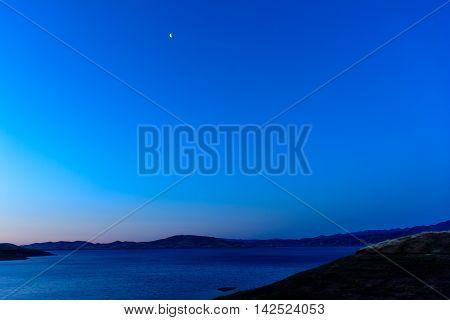 Morning Lake Morning Moon