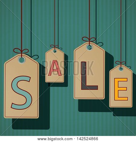 Product labels with the word sale. Retro style. Stock vector illustration.