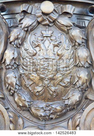 Iron decorations on the bridge of Alexandre III in Paris, France
