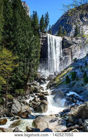 Yosemite Beautiful Waterfall