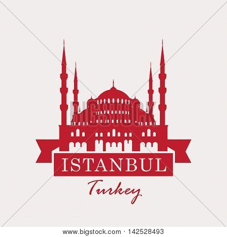 banner with a picture of the hagia sophia Turkey Istanbul