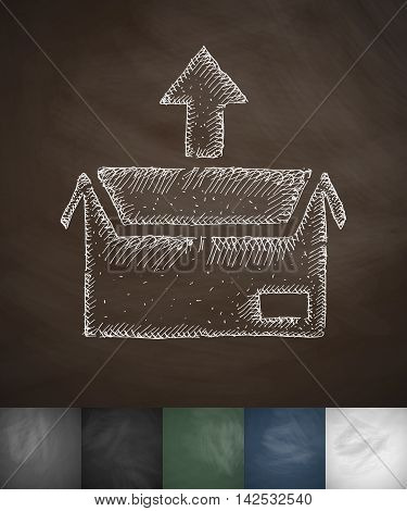 package icon. Hand drawn vector illustration. Chalkboard Design