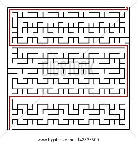 Black square maze(24x24) with help on a white background