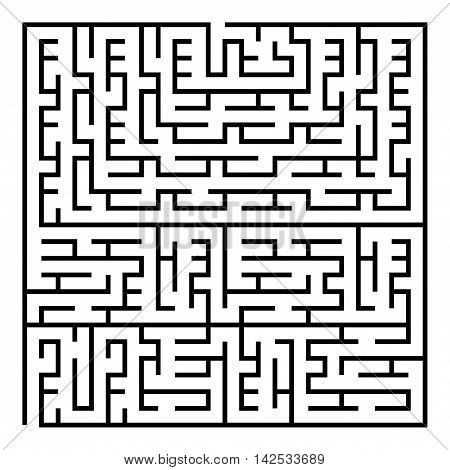 Black square maze(24x24) on a white background, vector