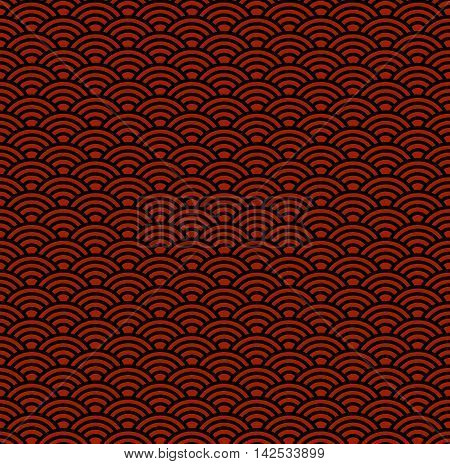Seamless china traditional background with waves for wallpaper design
