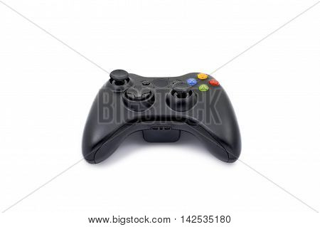 Wireless gamepad controller on white background