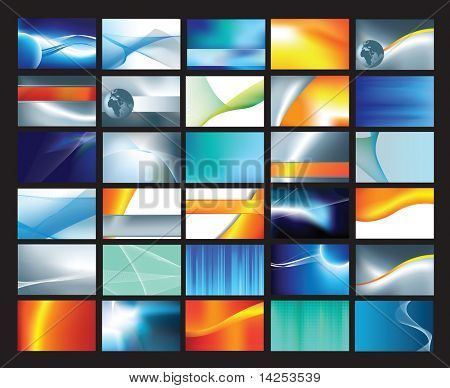 Collection of abstract corporate business cards vector file