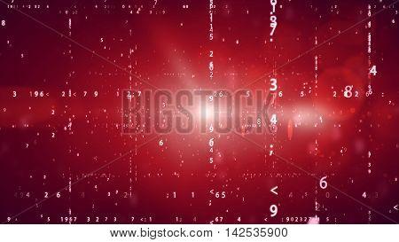 Cyberspace With Digital Binary Code