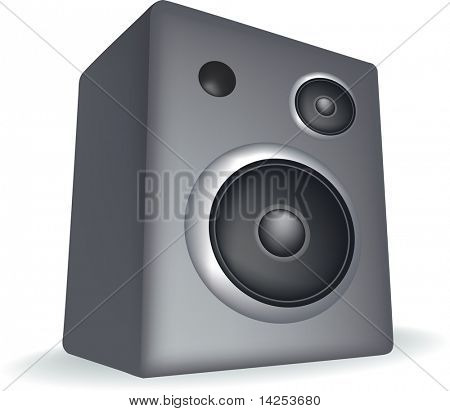 speaker illustration simple detailed style, on a white background