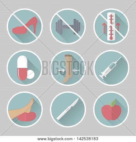 Phlebology Vector Flat Icons