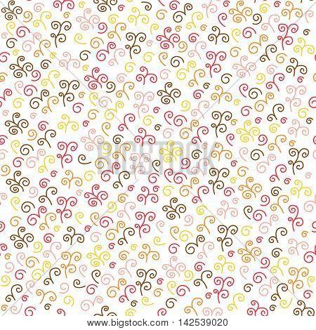 Seamless Pattern With Swirl.
