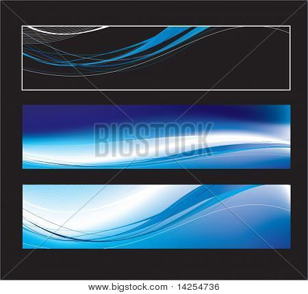 Website banners with space left for message