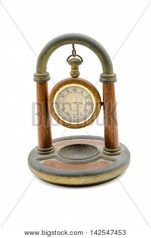 Clock table, isolate image on white background