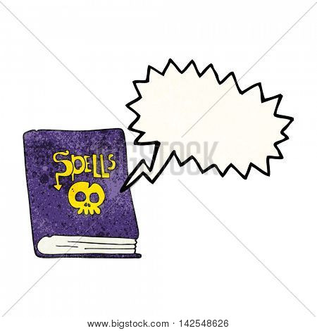 freehand speech bubble textured cartoon spell book
