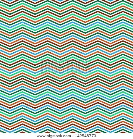 Colorful Zig Zag Lines Pattern - Background Design
