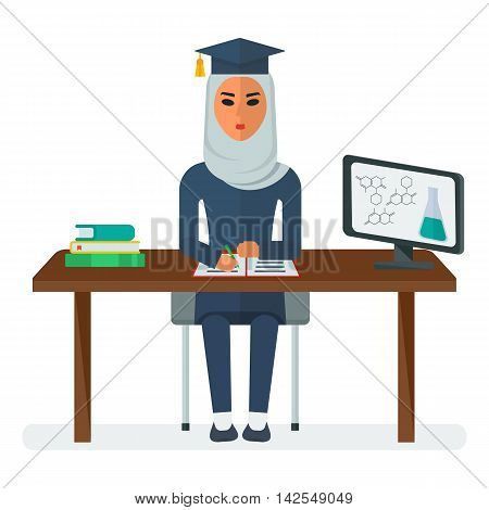 Arabian Woman Student