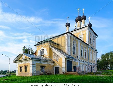 Church of Holy Martyrs Florus and Laurus on river bank Uglich Russia