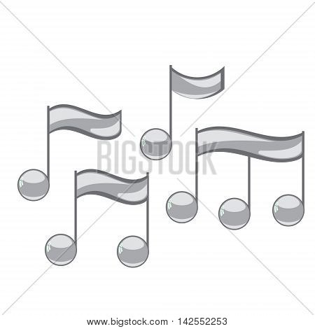 Note sing icons set. Musical symbol. Vector illustration