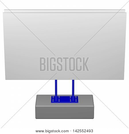 Concept: Billboard isolated on white background. 3D rendering.