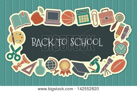 Background with text on the theme of school and education