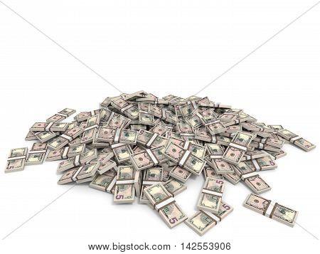 Money Heap. Five Dollars.