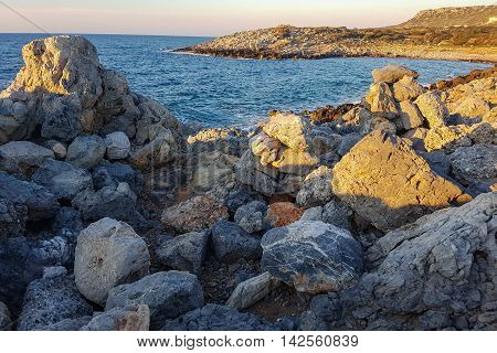 The magnificent mountain scenery of the sea