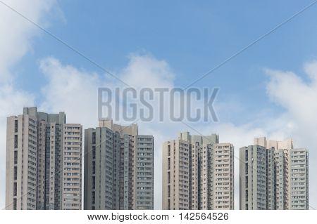 Detail of a series of Hong Kong skyscraper