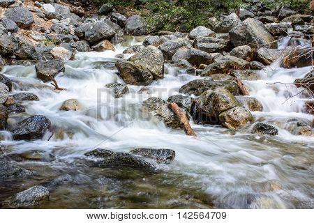River At Yosemite Mountain