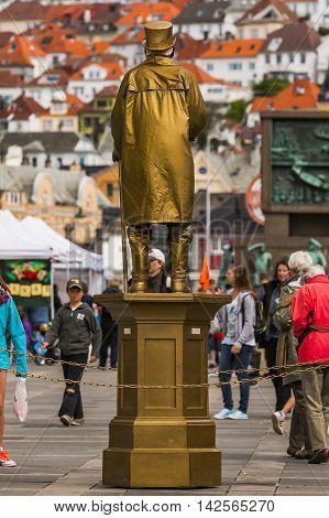 Sailor's Monument In Bergen, Norway