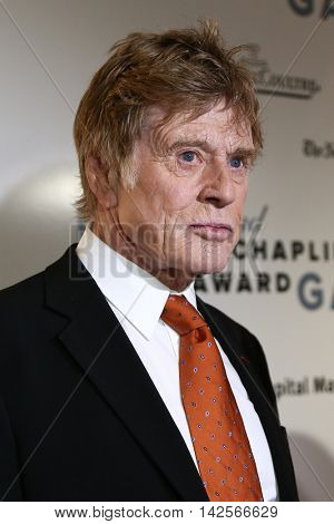 NEW YORK-APR 27: Honoree Robert Redford attends the 42nd Chaplin Award Gala at Alice Tully Hall, Lincoln Center on April 27, 2015 in New York City.