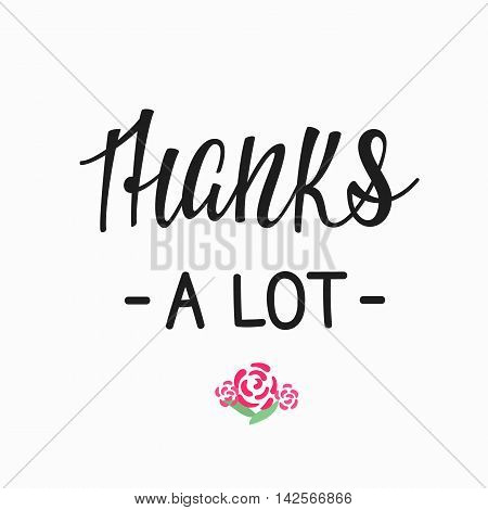 Thank you Friendship Family Positive quote thanksgiving lettering. Calligraphy postcard or poster graphic design typography element. Hand written vector postcard. Thanks a lot