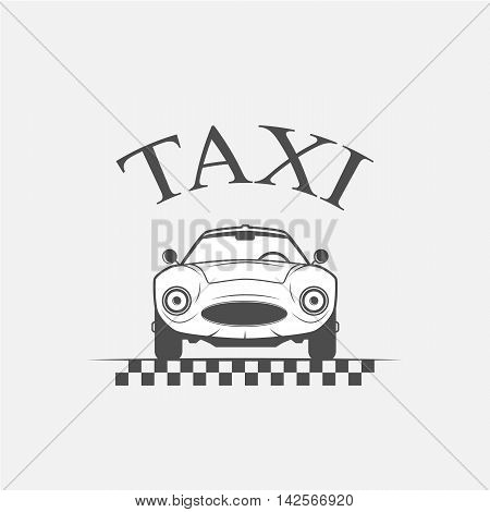 taxi logo car taxi taxi lables - vector illustration