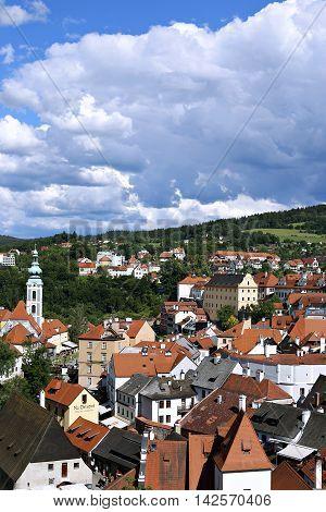 CESKY KRUMLOV, CZECH REPUBLIC - JUNE 18, 2016: Cesky Krumlov in the Czech Republic