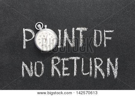 Point No Return Watch